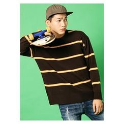 HOTBOOM - Crew-Neck Stripe Sweater