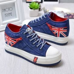 BUDING - Flag Panel Canvas Sneakers