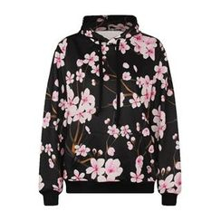 Omifa - Flower-Print Hooded Pullover