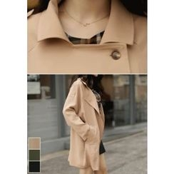MyFiona - Drop-Shoulder Chiffon Trench Coat