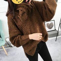 Asally - V領寬鬆毛衣