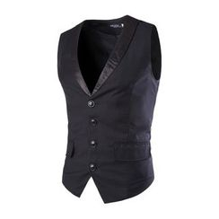 Bay Go Mall - Panel Slim-fit Vest