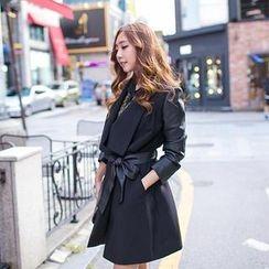 J-ANN - Shawl-Collar Trench Coat