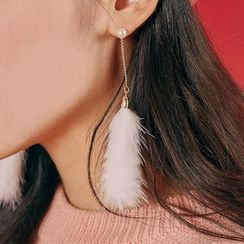 Ticoo - Furry Drop Earrings