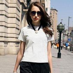 SEYLOS - Short-Sleeve Striped T-Shirt