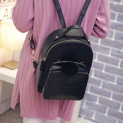Bam's - Faux Leather Backpack