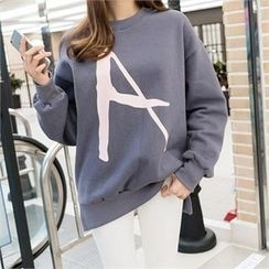 PIPPIN - Printed Brushed-Fleece Lined Sweatshirt