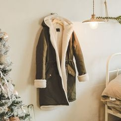 JUSTONE - Hooded Fleece-Lined Zip-Up Parka