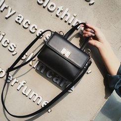 Rosanna Bags - Plain Faux Leather Shoulder Bag