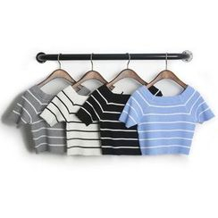KANAMI - Short-Sleeve Striped T-Shirt