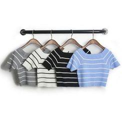KANAMI - Short-Sleeve Striped T-Shirt