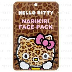 Sanrio - Narikiri Face Pack Facial Beauty Mask (Hello Kitty) (Leopard)