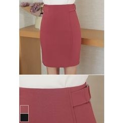 MyFiona - Buckle-Detail Pencil Skirt
