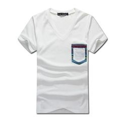 MR.PARK - Short-Sleeve Pocket-Detail T-Shirt