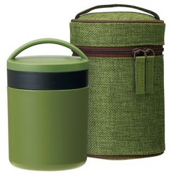 Skater - Japanese Style Thermal Delica Pot with Case (Green)