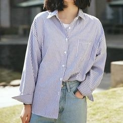 SUYISODA - Striped Loose Fit Shirt