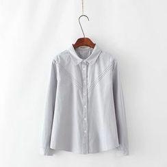 Tangi - Plain Long-Sleeve Shirt