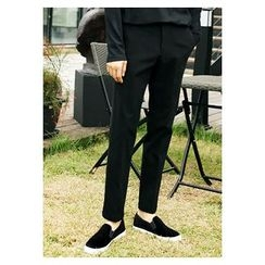 HOTBOOM - Flat-Front Dress Pants