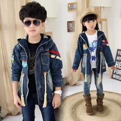 Pegasus - Kids Hooded Denim Jacket