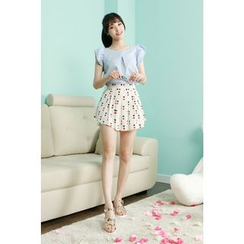 Dodostyle - Heart-Patterned Culottes