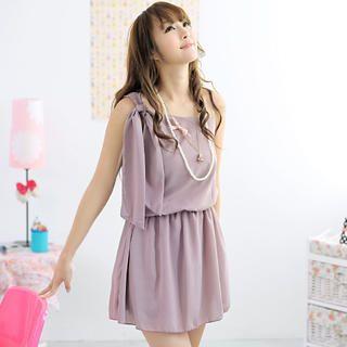 59 Seconds - One-Shoulder Chiffon Dress