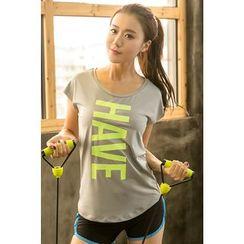 Zosia - Short-Sleeve Lettering T-Shirt