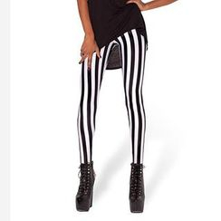 Omifa - Striped Leggings