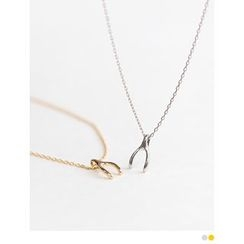 PINKROCKET - Wishbone 925 Silver Necklace