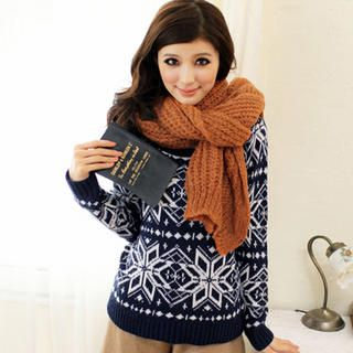 Tokyo Fashion - Snowflake-Pattern Sweater
