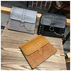 VANYAR - Studded Faux Leather Clutch