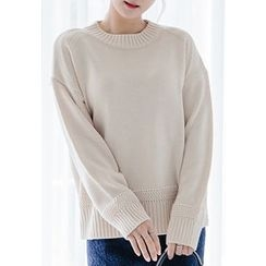 REDOPIN - Round-Neck Knit Top