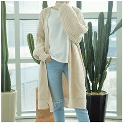 Penguin Island - Chunky Knit Long Cardigan