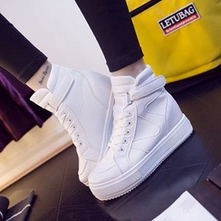 Solejoy - High-Top Platform Sneakers