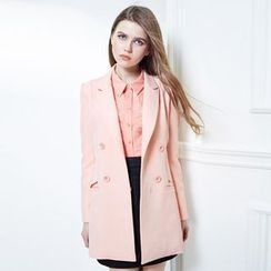 Daiyake - 纯色饰扣长西装