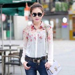 BOHIN - Floral Chiffon Shirt