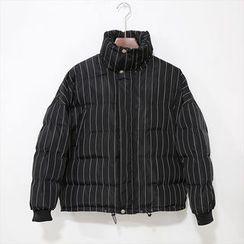 蔡先生 - 条纹夹棉夹克