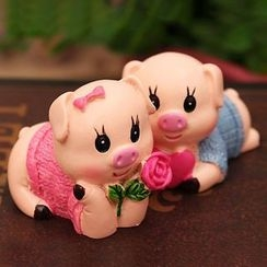 Lady Anton - Couple Pig Ornament