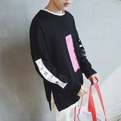 Troopers - Long-Sleeve Color-Block Top