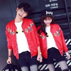 Sienne - Print Couple Matching Zip Jacket