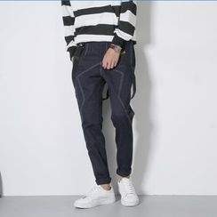 Mr. Wu - Harem Pants with Suspender