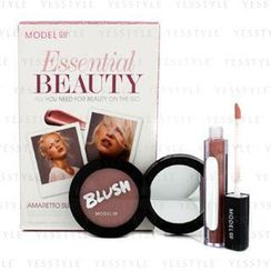 ModelCo - Essential Beauty - Amaretto Sunset (1x Blush Cheek Powder, 1x Shine Ultra Lip Gloss)
