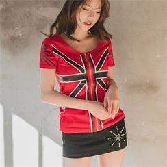 clubber - Washed Denim Mini Skirt