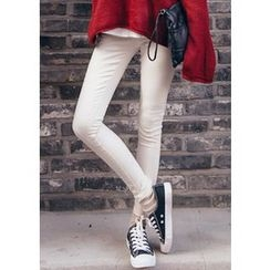 Chlo.D.Manon - Flat-Front Colored Skinny Pants