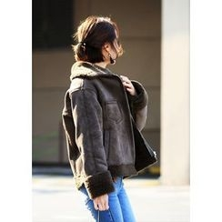 ssongbyssong - Pocket-Detail Faux-Shearling Jacket