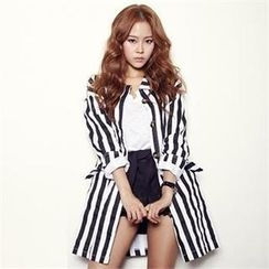 FITTHEM - Pinstriped Trench Coat