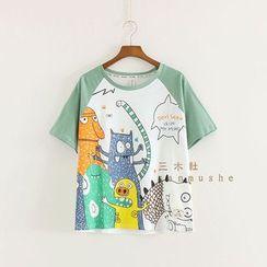 三木社 - 印花T恤