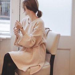mimi&didi - V-Neck Knit Dress