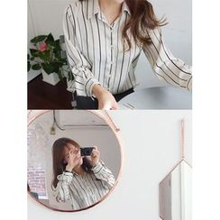 hellopeco - Long-Sleeve Striped Shirt