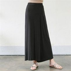 CHICFOX - Banded-Waist Wide-Leg Pants