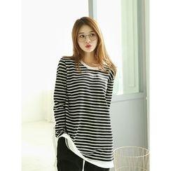 LOLOten - Round-Neck Stripe T-Shirt